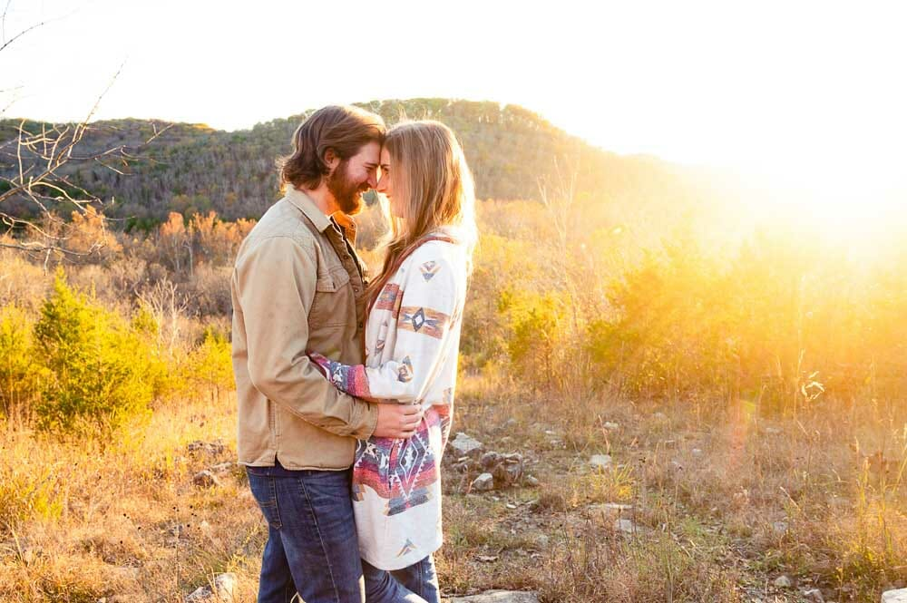 Engagement photos at Busiek State Forest