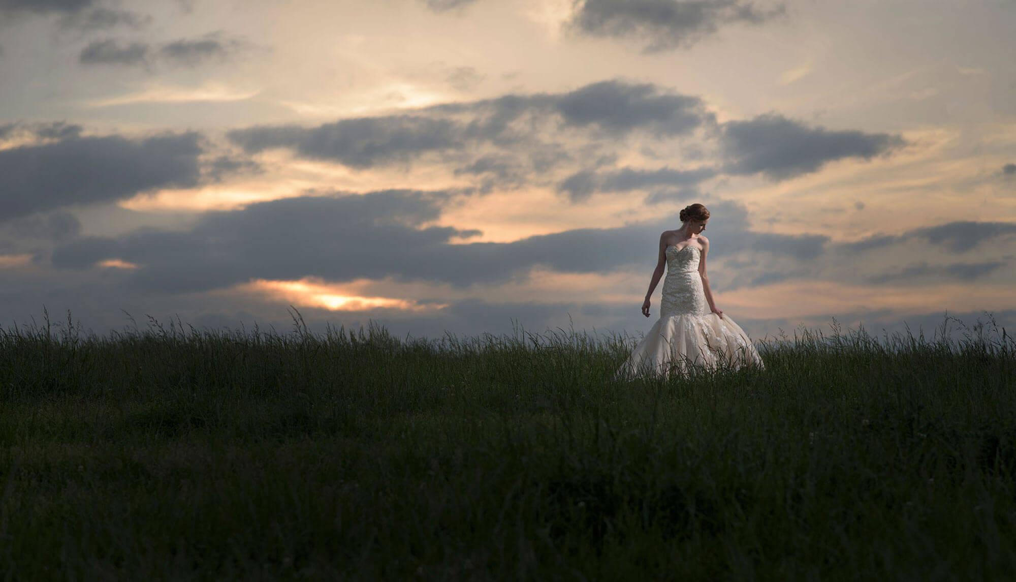 Sunset Bridal photo Cane Hill in Northwest Arkansas