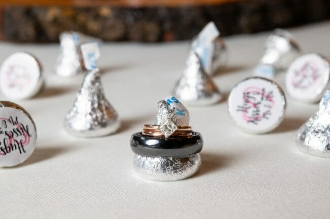 custom Hershey Kisses with wedding date