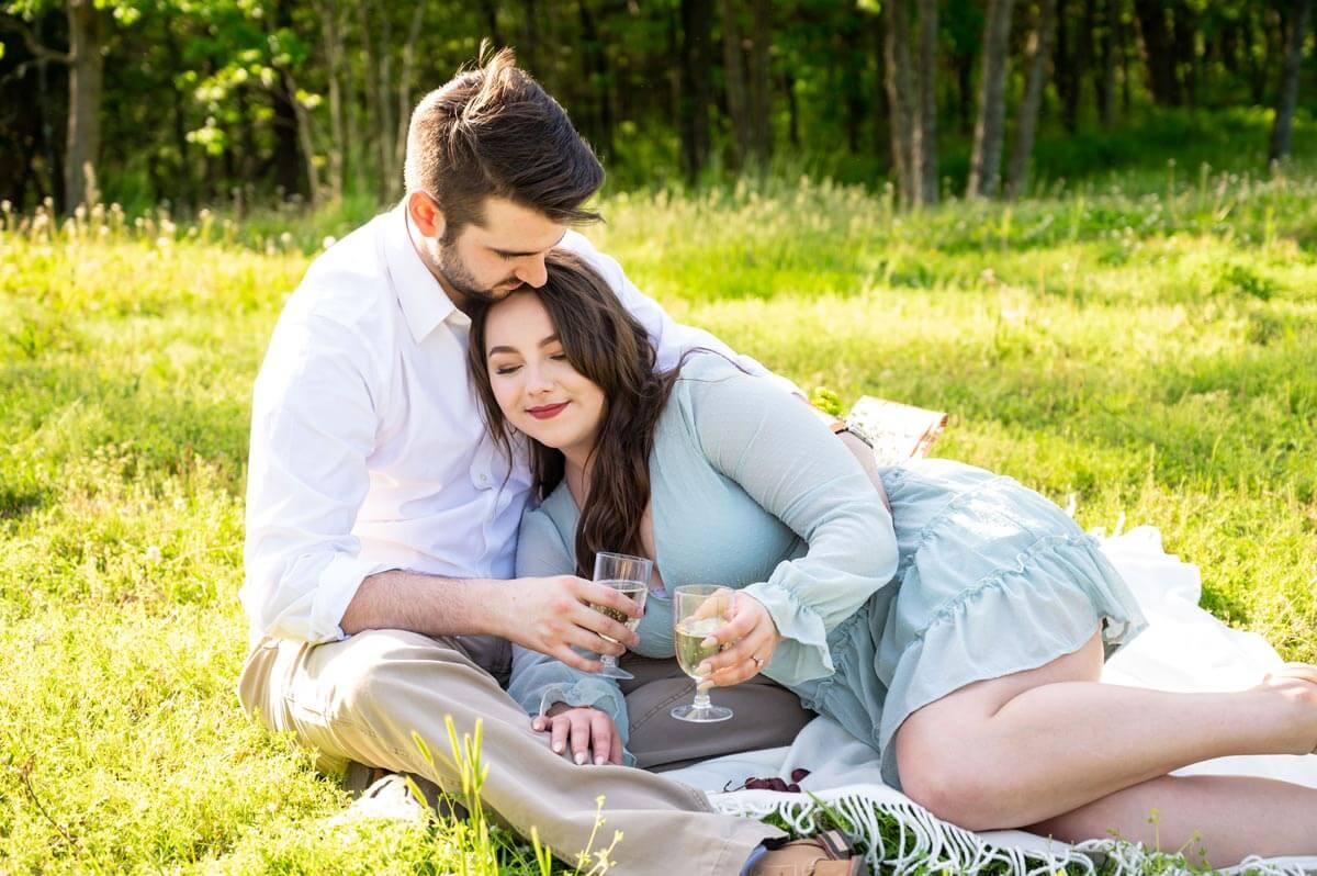 engaged-couple-having-picnic