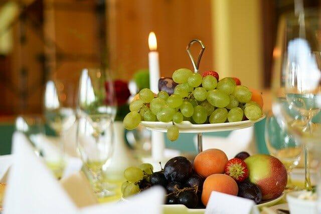 fruit decoration at wedding