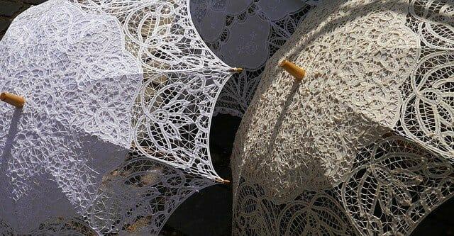 parasol at wedding